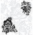 Black silhouette of flower vector image