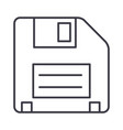 diskette line icon sign on vector image