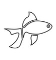 fish black color icon vector image