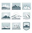 Mountains logo travel vector image