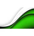 Stylish abstract green background vector image vector image