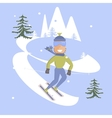 Young man is skiing vector image