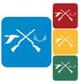 hunting club logo icon vector image