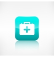 First aid kit icon Application button vector image