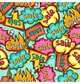 Seamless pattern of sale speech bubbles and labels vector image vector image