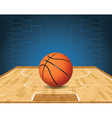 Basketball Bracket Court and Ball vector image