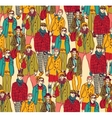 Hipster fashion crowd people color vector image