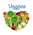 Healthy heart from fresh vegetables vector image