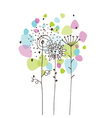 Flowers - freehand drawing vector image