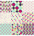 Seamless patterns polka dot set vector image