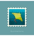 Ramp fish stamp Summer Vacation vector image