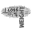 A successful weight loss diet starts from the vector image