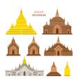 bagan myanmar architecture building landmarks vector image
