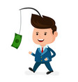 cute happy smiling businessman vector image