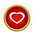 Healthy heart icon simple style vector image