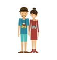 hipster couple icon vector image