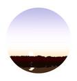 lake at dawn landscape vector image