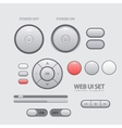 Light Web UI Elements Design Gray vector image vector image