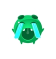 Crying Out Loud Round Character Emoji vector image