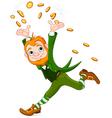 Running Leprechaun vector image vector image