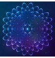 Blue shining cosmic flower vector image vector image