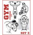 GYM bodybuilding - Fitness club vector image vector image