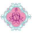 Frame with lotus vector image vector image