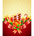 christmas candles vector image vector image