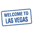 welcome to Las Vegas blue grunge square stamp vector image