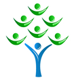 Teamwork as a tree logo vector image vector image