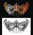 beautiful lace masquerade mask vector image