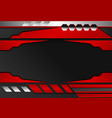black and red stripes abstract background vector image