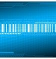 Digital blue background vector image