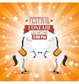 poster festival funfair horses entertainment vector image