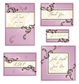 set of rococo wedding designs vector image