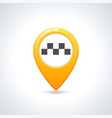 taxi icon map pin with taxi checks sign vector image