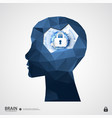 the concept of intellectual property protection vector image