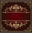 vintage background antique greeting card vector image