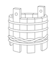 wooden tub vector image