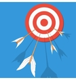 Arrows flying at the target vector image