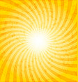 Textured spiral sunray background vector image