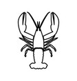 craw fish black color icon vector image