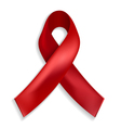 Red ribbon - a symbol of the fight against AIDS vector image vector image