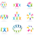 abstract people icon vector image vector image