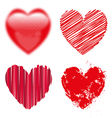 Valentine day doodle hearts vector image