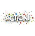 Action paper banner vector image