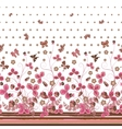 Vertical Seamless pink brown floral pattern with vector image