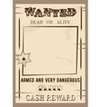 Wanted poster template in vector image
