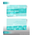 A light colored business card vector image
