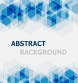 Abstract blue hexagon overlapping background vector image